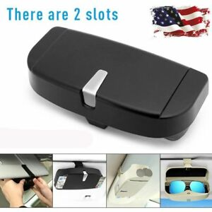 Car Visor Glasses Case Organizer Box Sunglasses Holder Storage Pockets Usa