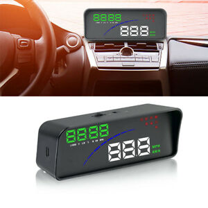 Digital Car Hud Head Up Display Obd Speedometer Water Temperature Rpm Gauge