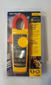 Fluke 324 True Rms Clamp Meter With Temperature 400a Multimeter 324 Plus