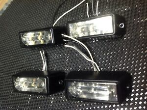 Whelen Tir3 Lin3 Led Sync Clear white Lighthead Lot Of 4 Lin3 Clear White