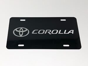 Toyota Corolla Logo Car Tag Diamond Etched On Aluminum License Plate