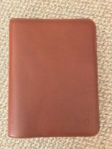 Franklin Covey Classic Unstructured Leather Binder Planner Agenda Organizer
