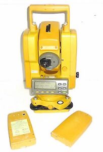 Topcon Gts 201d Total Station Survey Instrument Additional Batteries