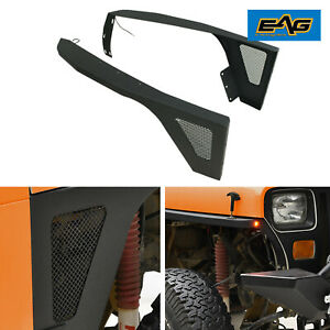 Eag 87 96 Jeep Wrangler Yj Front Fender With Led Eagle Lights Armor