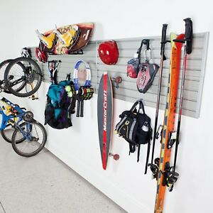 24 sq ft Home Garage Wall Organizer Multi use X hooks Deluxe Sports Storage Set
