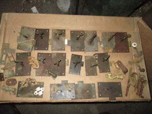 Lot Of 17 Antique Brass Cabinet Locks Some With Keys Plus Extras