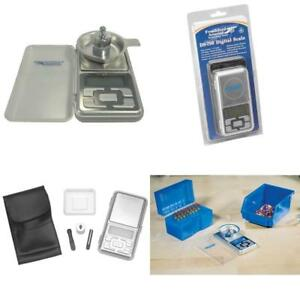 Digital Reloading Scale 750 Grain Capacity with Built In Cover and Powder Tray