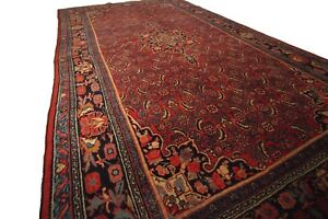 Fine Antique Authentic Persian Bijar Rug Farahan Design Red 6 X9 Circa 1910