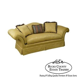Southwood Custom Gold Upholstered Sofa A