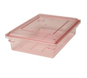 Cambro 18266cw467 8 Gallon Red Camwear Food Storage Container 6 H X 26 W X 1