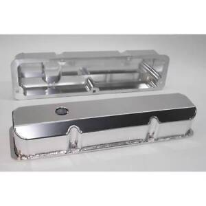 Ford Fe 1958 1976 332 352 390 428 Polished Clear Anodized Tall Valve Covers
