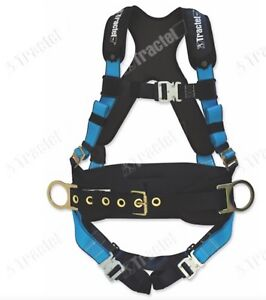 Tractel Medium Belted Padded Fall Protection Construction Harness Auto Buckles