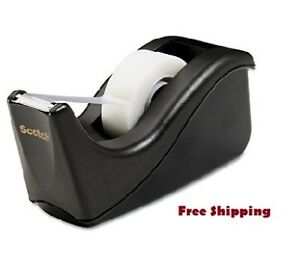Scotch Value Desktop Tape Dispenser 1 Core Two tone Black New Free Shipping