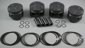 Jdm Nippon Racing 85mm Full Floating B16b Ctr Pistons Rings Pct B20 Vtec