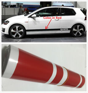 High Quality Red Body Decal Sticker Set For Vw Golf Polo 6 7 Mk6 7 Scirocco Gti