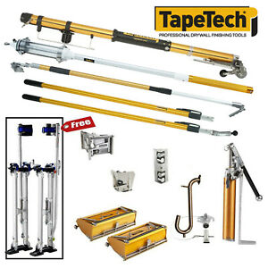 Tapetech Drywall Taping Tools Pro Extender Set With Mudrunner Free Stilts