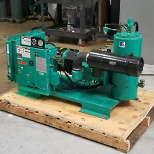 Used Sullivan Palatek 15d 15 Hp Hp Rotary Screw Air Compressor Low Hrs 230 480v