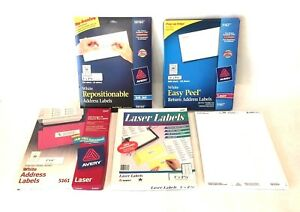 Lot Of 7800 Assorted Avery Return Address Shipping Labels For Laser