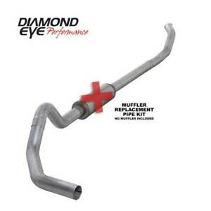 Diamond Eye Single 4 Turbo back Exhaust No Muff For Dodge Cummins 5 9l 04 5 07
