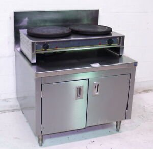 Used Equipex Ltd 400ed Commercial Electric Double 15 3 4 dia Crepe Griddle