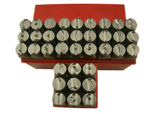6 Sets Of 1 2 12 5mm Letters Punch Stamp Set Metal steel A z 36p