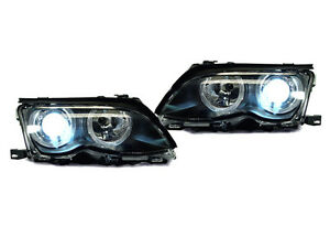 Depo Bi Xenon Oem Replacement Angel Halo Projector Headlight For 02 05 E46 4d 5d