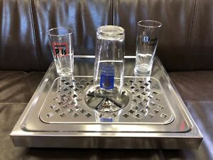 Rinser For Beer Glass coffee Pitcher With Drip Tray