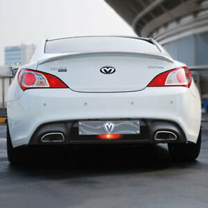 New M s Abs Black Matte Rear Trunk Spoiler For Hyundai Genesis Coupe 10 16