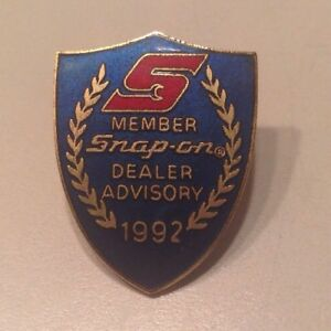 Snap On Tools Collectable Mbr Dealer Advisory 1992 Rare Lapel Pin Vntg Antique