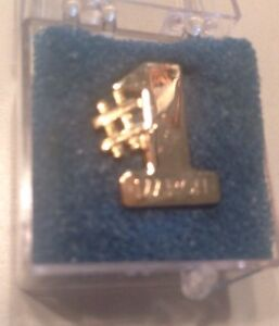 Snap On Tools Collectable Gold Plated 1 March Lapeltie Pin 80s Rare Antique