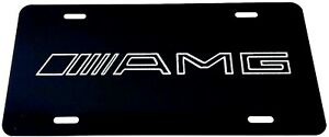 Amg 2 Logo Car Tag Diamond Etched On Aluminum License Plate