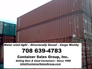 2 125 Houston 40ft Used Storage Shipping Conex Containers Cargo Trailer