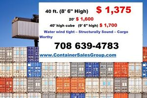1 600 Chicago 20 Ft Used Storage Shipping Conex Containers Cargo Trailer