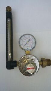 Smith Flowmeter Regulator Model 32 30 580 Inert Gas Mig Tig Welding Argon co2