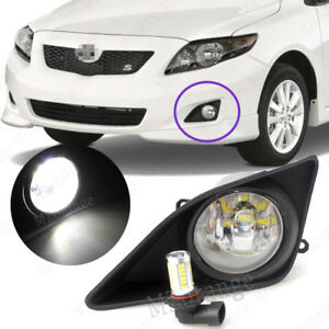 2x Front Bumper Fog Lights W Switch Led Bulbs For Toyota Corolla 2008 2009 2010