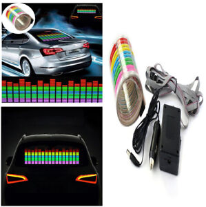 Sound Activated Car Music Rhythm Sticker W Uniform Soft Lumination Led Light