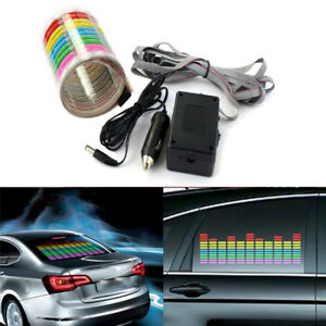 Car Window Music Rhythm Atmosphere Light Sticker Sound Activated Equalizer Lamp