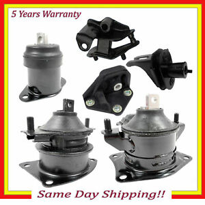 Fits 2003 2007 Honda Accord Ex 2 4l Fwd Engine Motor Trans Mount Set 6pcs