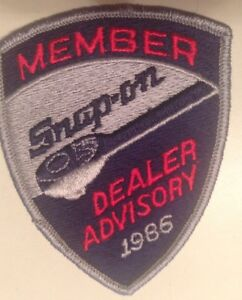 Snap On Tools Collectable Member Dealer Advisory 1986 Patch Rare Limited Antiqu