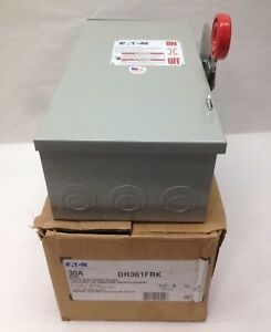 Eaton Cutler Hammer Dh361frk Disconnect Safety Switch 3 Pole Fusible 30a 600v