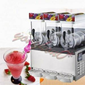 Commercial 3 Tank Frozen Drink Slush Slushy Making Machine Smoothie Maker New
