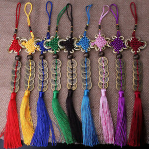 Lucky Chinese Knot Copper Coins Car Hanging Home Decoration Key Pendant