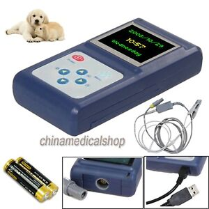 Veterinary Hand held Pulse Oximeter Spo2 Monitor Blood Oxygen For Animals cat Us