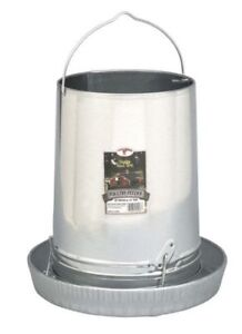 Poultry Chicken 30 Pound Tube Hanging Feeder Space Saver Galvanized Steel