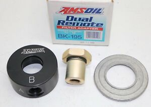 Bk 195 Amsoil Marine Dual Remote Oil Filter Filtration Adapter 3 4 X 16 Thread