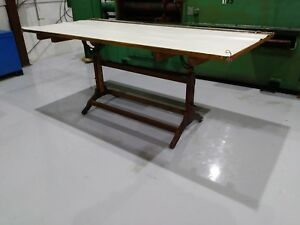 Vintage Adjustable Wooden Drafting Table