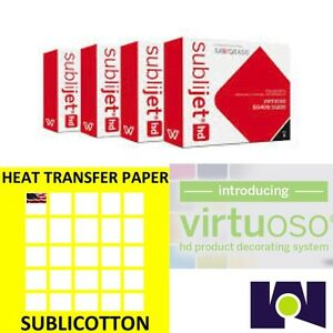 Sawgrass Virtuoso Sg400 sg800 Ink Set Cmyk Plus 200 Sheets Of Sublicotton Combo