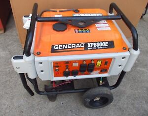 2015 Generac Xp8000e 8kw 10kw Commercial Gas Generator 556 Hrs Excellent