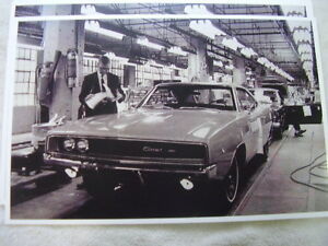 1968 Dodge Charger On Assembly Line 1 11 X 17 Photo Picture