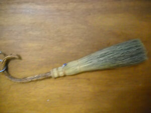 Berea College Handmade Hearth Broom Curved Handle Woven Natural Reed 24 Ky